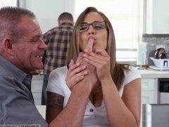 Edging handjob denial Tony took Layla over