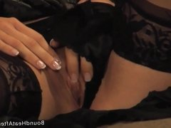 Two Lesbian Slaves Stripteasing And Kissing In Front Of Mada