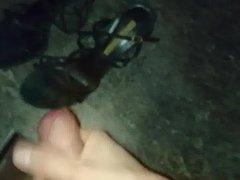 Cum over her buffalo sandals