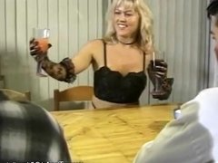 Blonde Lovely Lady Loves To Do Double Handjob