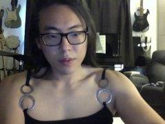 Asian beauty cums