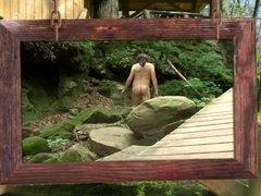 Naked sissy hiking to Parfreys Glen by Mark Heffron