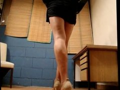 tx-walking in high heels-upskirt 1