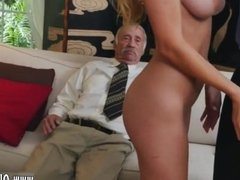 Old man with big dick blowjob girl and