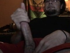 Strocking My Cock and Cumming