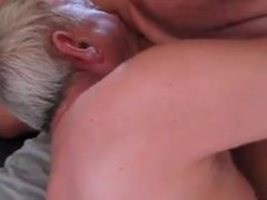 Two mature old man sucking each other's cock