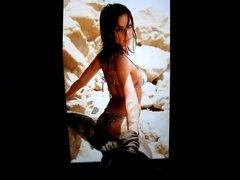 Jessica Alba's ass cum tribute 4