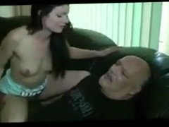 Wife makes cuck to clean up after Bull cums