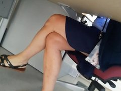 candid sexy legs under table part 1