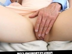 Daughter Sits On Her Step Dads Cock In Front Of Mom