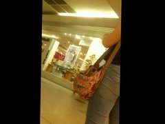 Hot jeans big booty at the mall