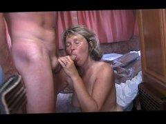 55 yo belgian slut marie sucks cock and spits cum