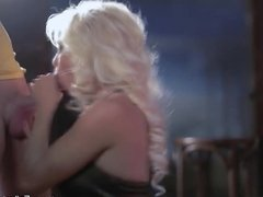 Blonde Blows In Public Club