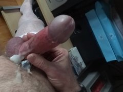 Cock ring wank slow motion