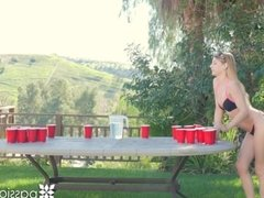 PASSION-HD Strip beer pong fuck for spring break with Sydney Cole