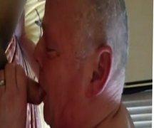 Grandpa Sucking And Masturbating Again