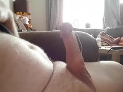 More jerking my hard cock