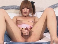 Japanese t-girl big squirt