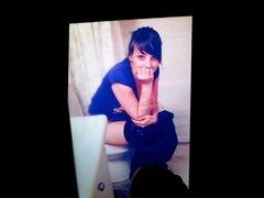 Stephanie Blaaze on a toilet cum tribute