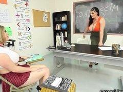 Busty Teachers Maggie Green & Angelina Castro Help you Cum!