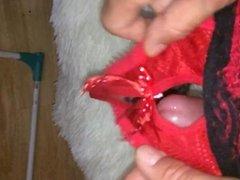 cumshot in panties niece