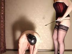 Footfetish and slave training with spanking