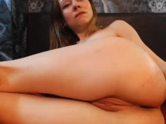 bitch fucks her ass with a dildo on webcam