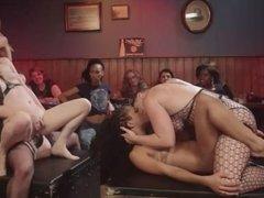 Orgy in lesbian bar