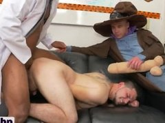 White stud gets banged by long black rod