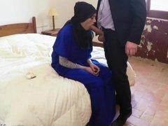 Arab strip 21 yr old refugee in my hotel