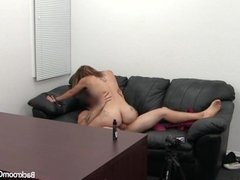 Pretty First Timer Ambush Creampie on Casting Couch