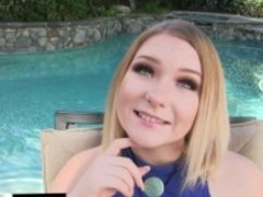 Kayli brings another teen to share a cock with