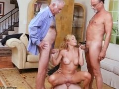 Old big ass granny and man eats girls