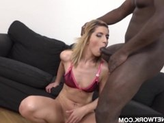 Anal Creampie for blonde fucking big black cock hardcore interracial
