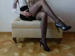 My legs, my stockings, my high heels
