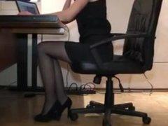 Angry boss attack his secretary