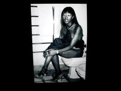 Naomi Campbell on a toilet cum tribute