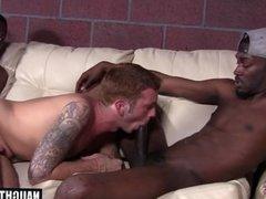 Big cock son threesome with cumshot