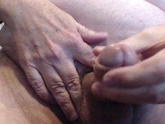 Fat hard cock cums to porn