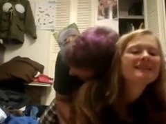 Nerdy girl fucked by her guy