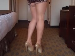 Stockings and heels from my POV