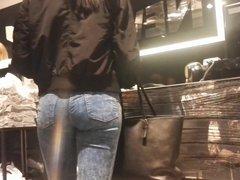 teen ass in jeans hidden cam