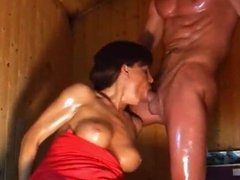 Rough Gagging Facefuck with Piss