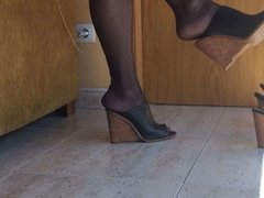 Dangling at home with wedges
