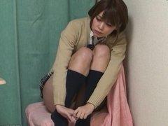 Japanese Schoolgirl Upskirt with miniskirt uniform