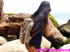 Heather Deep publicly squirts outdoors on the ocean