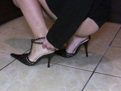 High heels, long legs