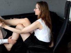 seduced by secretary feet