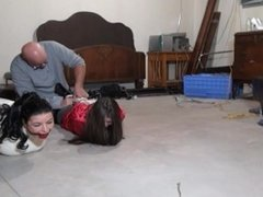 JH We both ended up hogtied in the basement
