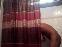 Spying on Boyfriend, Carlos Taking A Shower
